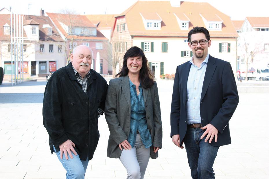 v. l.: Die drei Spitzenkandidaten Peter Zydel, Susanne-Carolin Hörr und Alexander Schopf
